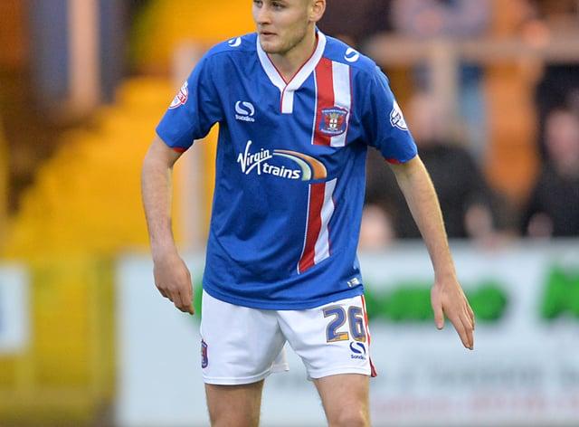 Macaulay Gillesphey in action for Carlisle United