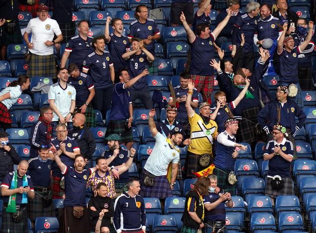 Fans inside Hampden