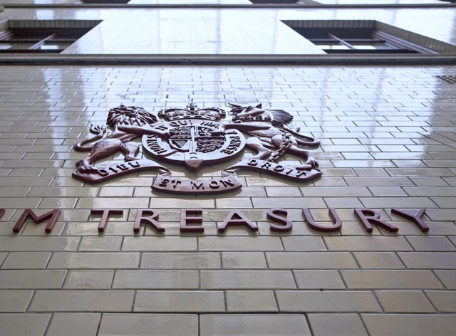 An HM Treasury sign