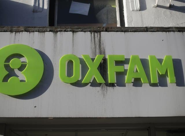 Oxfam shop sign