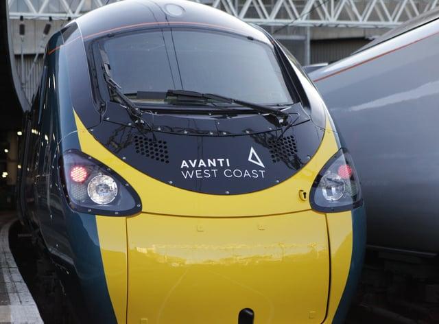 The front of an Avanti West Coast train