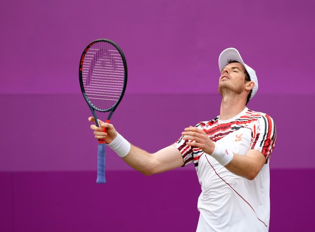 Andy Murray bowed out in the second round at Queen's