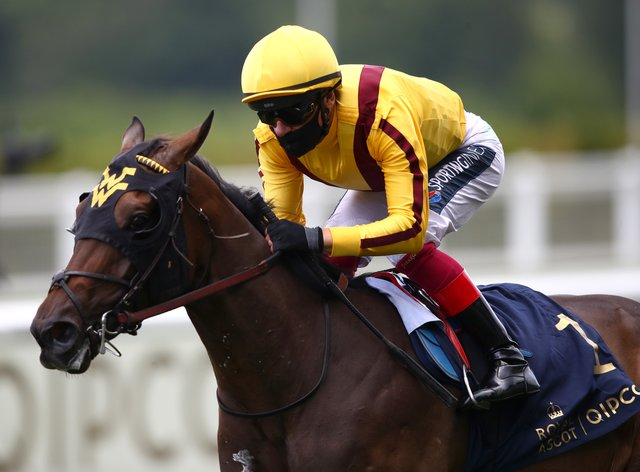 Campanelle, ridden by Frankie Dettori, winning the Queen Mary Stakes during day five of Royal Ascot at Ascot Racecourse