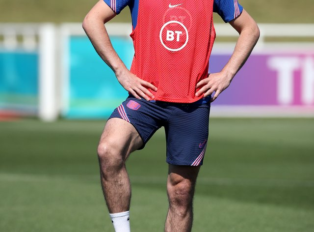 Harry Maguire in training