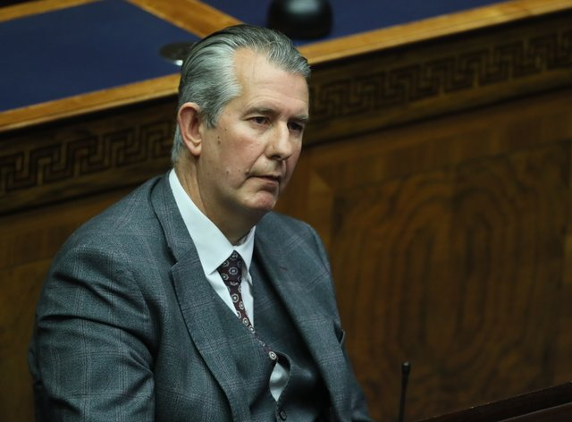 Edwin Poots in the Chamber on Thursday