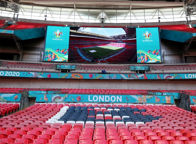 <p>Wembley is due to host the semi-finals and the final of Euro 2020</p>