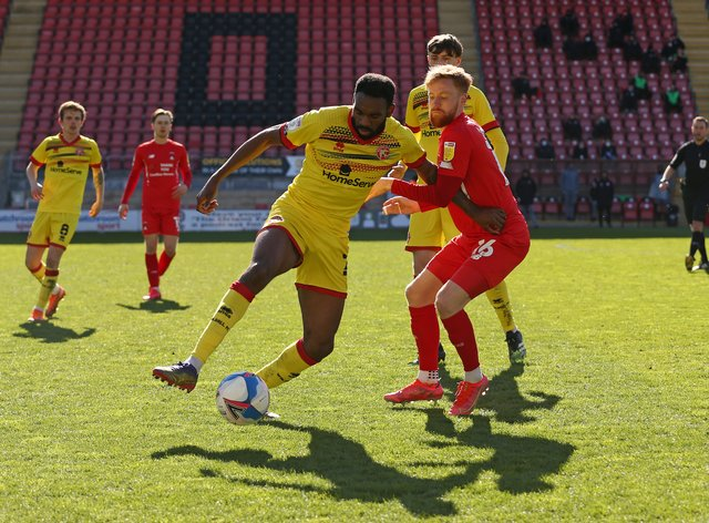 Hayden White, left, will stay at Walsall until at least 2023