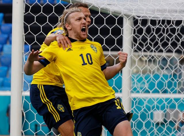 Emil Forsberg celebrates his winning goal