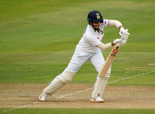 Shafali Verma plays through the off side against England