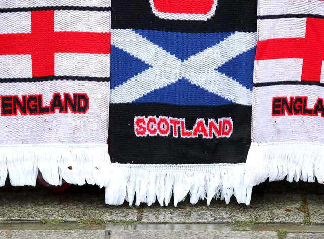 The fans were arrested after the game between England and Scotland