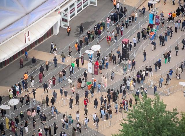 The London Stadium queue