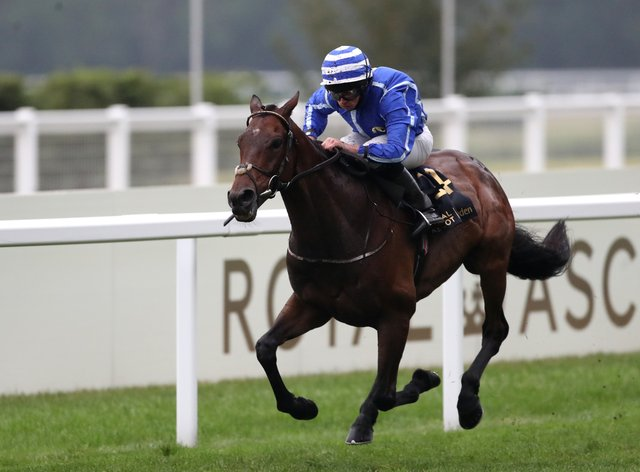 Stratum powers clear to win the last under Ryan Moore
