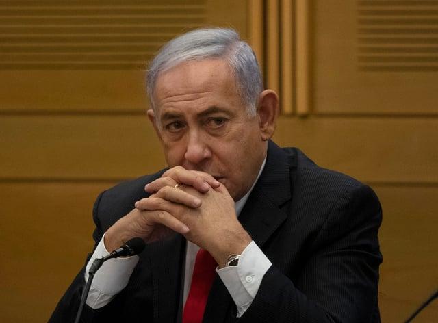 Former Israeli prime minister Benjamin Netanyahu