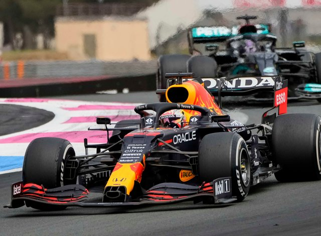 Max Verstappen passed Lewis Hamilton to take the win