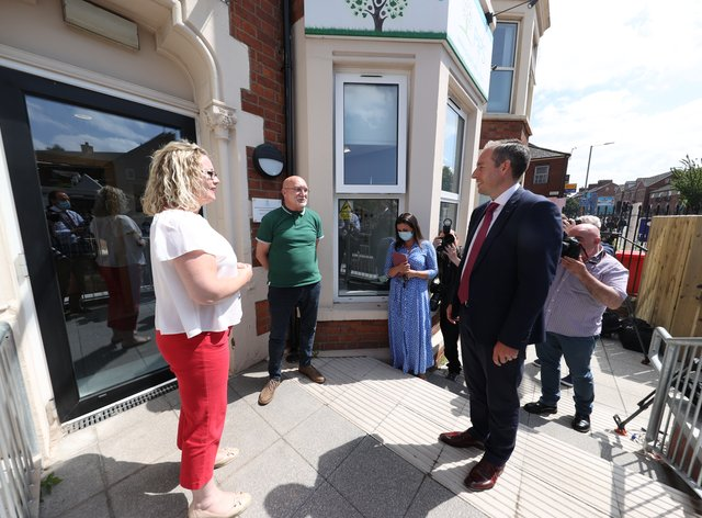 First Minister Paul Givan visit to PIPS