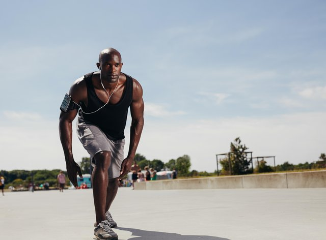 Man on a sunny run