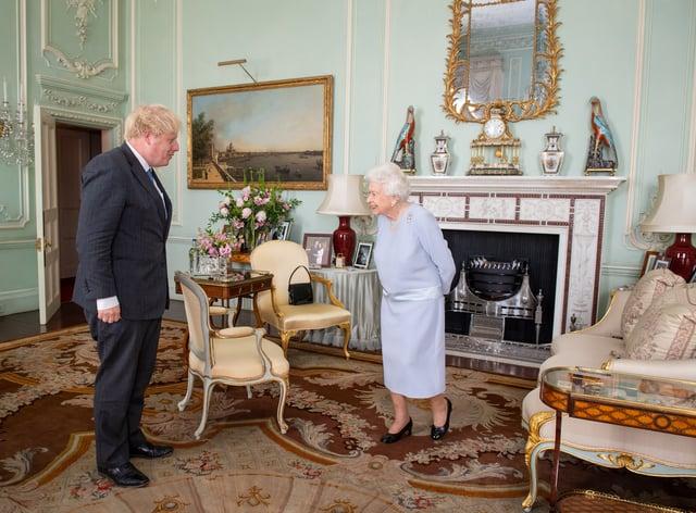 The Queen meets Boris Johnson