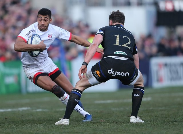 Ulster's Robert Baloucoune, left, is one of 12 uncapped players in Andy Farrell's Ireland squad