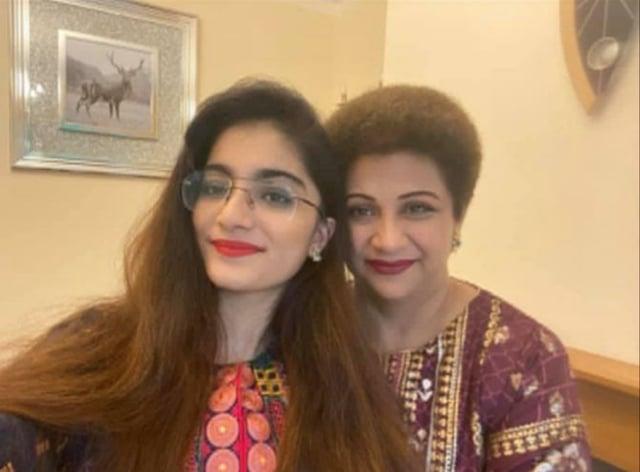 Dr Saman Mir Sacharvi and her daughter Vian Magrio