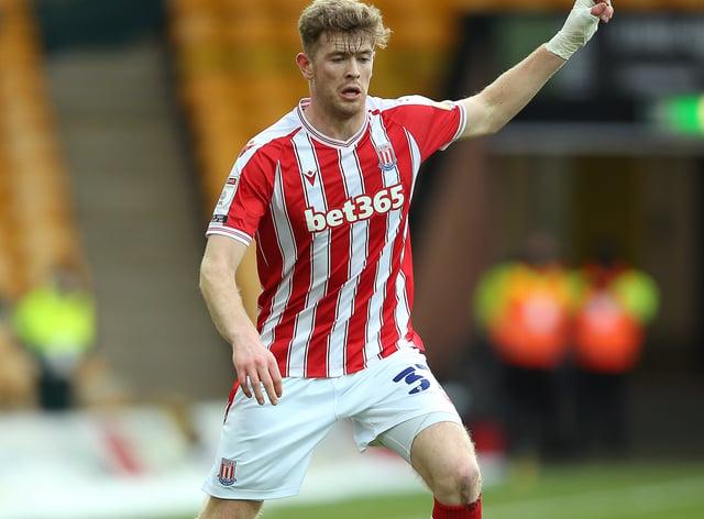 Nathan Collins raises his arm