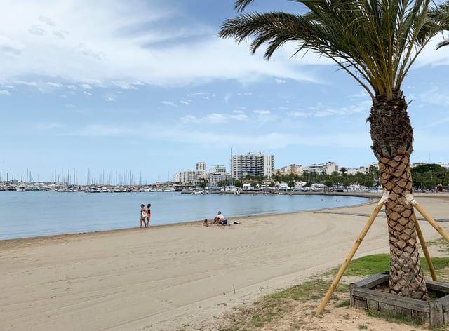 An empty beach in Ibiza