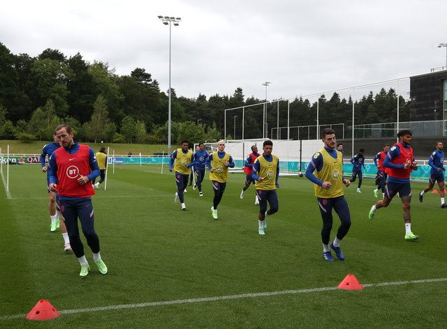 <p>England training continues ahead of the Euros clash with Germany</p>