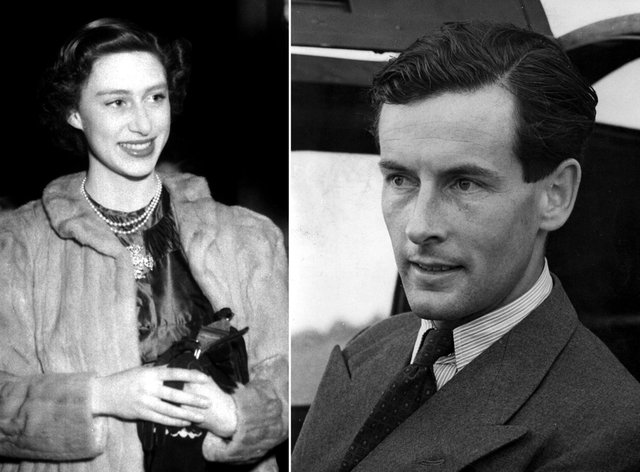 Composite library files, dated in 1950, and 1952, of Princess Margaret and Group Captain Peter Townsend (Archive/PA)