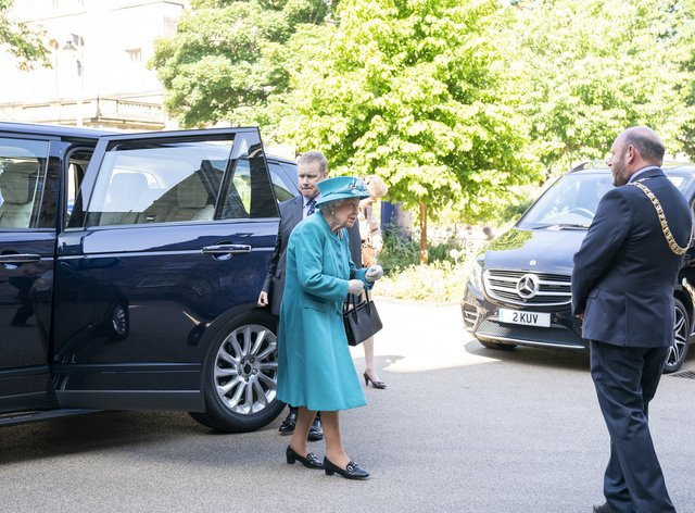 The Queen arrives for a visit to the Edinburgh Climate Change Institute