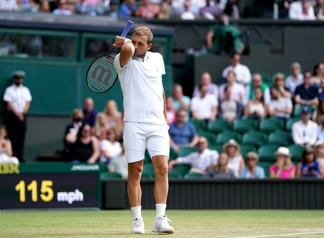 Dan Evans is out of Wimbledon at the third round stage again