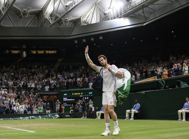 Andy Murray waved goodbye to Centre Court after defeat by Denis Shapovalov