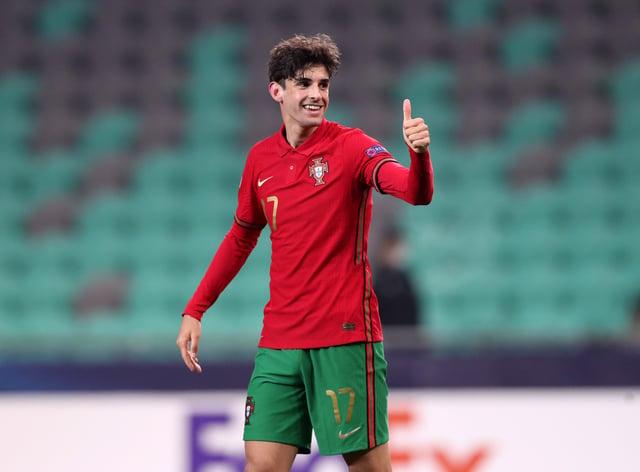 Portugal international Francisco Trincao has joined Wolves on a season-long loan deal