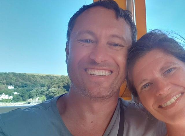 Dan Bevan with partner Inge-Lise Nygaard