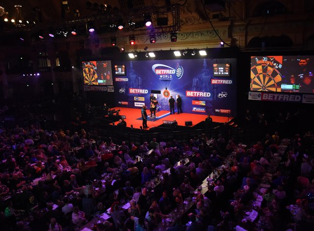 The Winter Gardens will be laid out as they were in 2019 for the Betfred World Matchplay from July 19 onwards