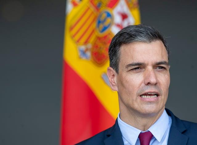 Spain's prime minister Pedro Sanchez (Mindaugas Kulbis/AP)