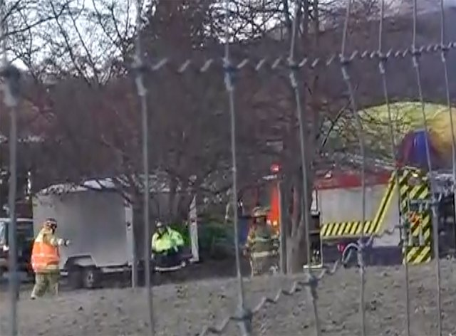 Crash site footage