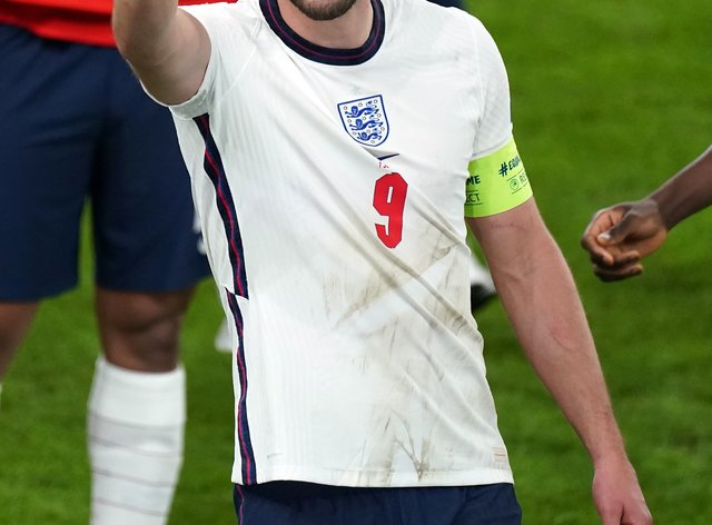Skipper Harry Kane has scored four goals in England's run to their first major tournament final since 1966 (Mike Egerton/PA).