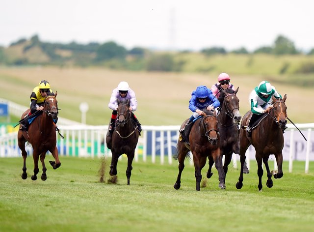Ardbraccan (right) won the opening race at Newmarket on Saturday
