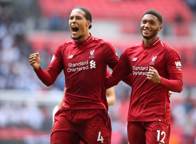 Liverpool sorely missed Virgil Van Dijk (left) and Joe Gomez (right) last season