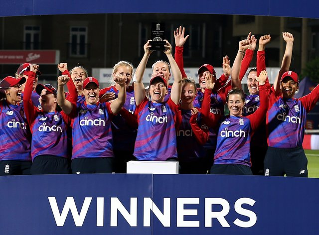 England won the multi-series