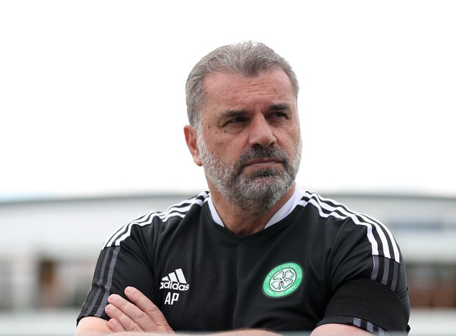 Celtic manager Ange Postecoglou, pictured, is delighted with the signing of Kyogo Furuhashi (Bradley Collyer/PA)
