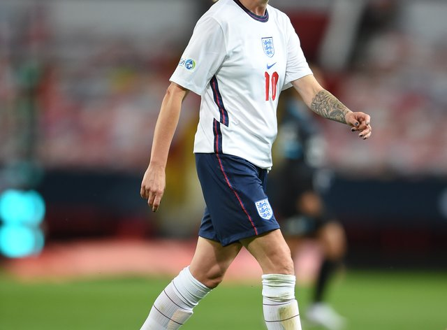 Kelly Smith of England pictured playing in Soccer Aid for UNICEF 2020 at Old Trafford, Manchester (Soccer Aid for UNICEF).