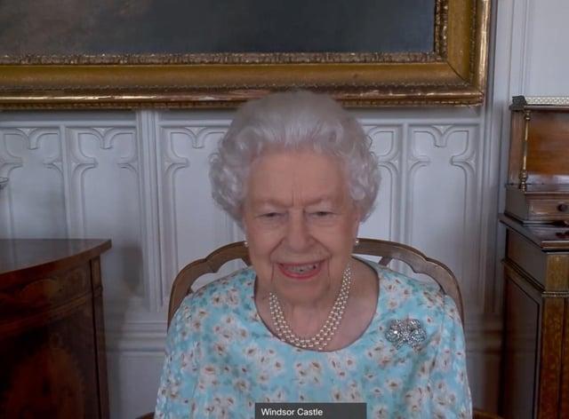 The Queen speaks to Queens Commonwealth Trust – credit Buckingham Palace (2)