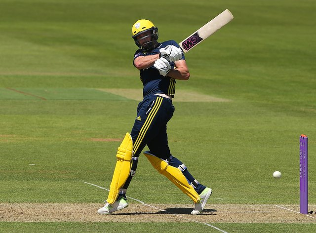 Hampshire's James Vince continued his outstanding form