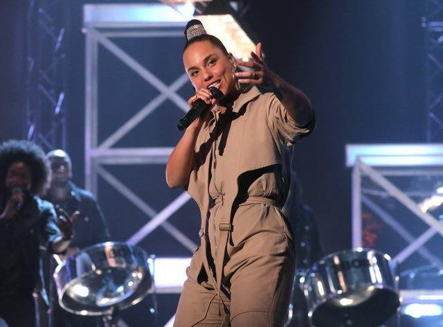 Alicia Keys performed at the event