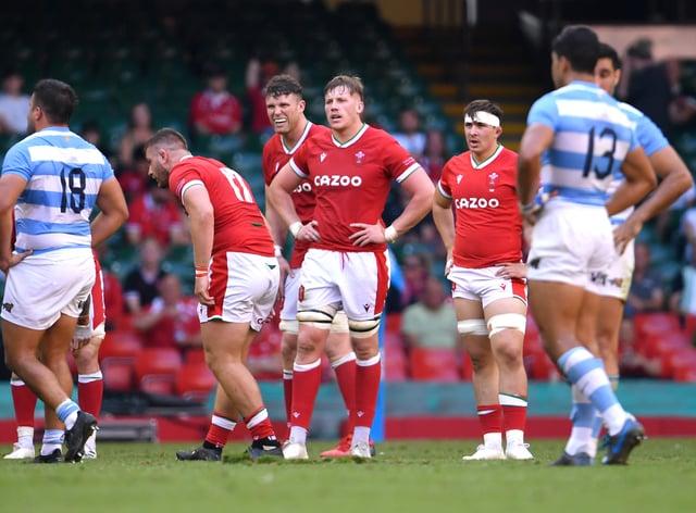 Wales' Matthew Screech appears dejected