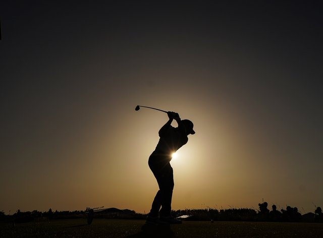 Louis Oosthuizen tees off on the 18th during day three of the 149th Open