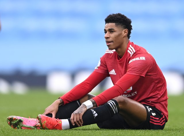 Manchester United's Marcus Rashford could have shoulder surgery before the start of next season