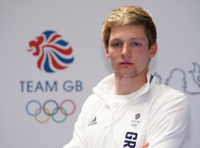 Duncan Scott during the kitting out session for the Tokyo Olympics 2020
