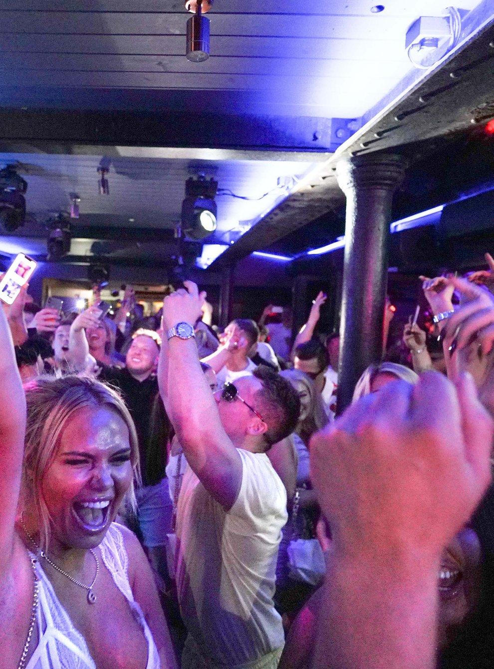People dancing at Bar Fibre in Leeds