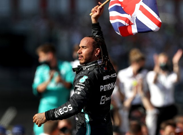 Lewis Hamilton is eighth points behind Max Verstappen in the standings